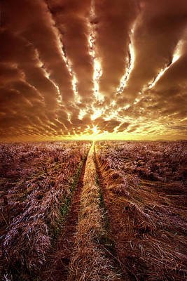 Print featuring the photograph Just Over The Horizon by Phil Koch