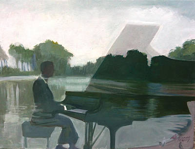 Painting - Justin Levitt Steinway Piano Spreckles Lake by Suzanne Cerny