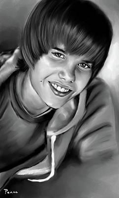 Justin Art Print by Lisa Pence