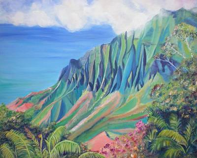 Painting - Kalalau Valley by Marionette Taboniar