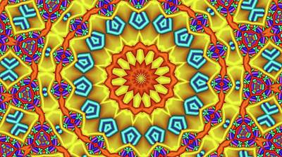 Digital Art - Kaleidoscope 126 by Ron Bissett