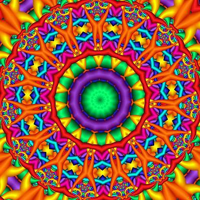 Digital Art - Kaleidoscope 127 by Ron Bissett