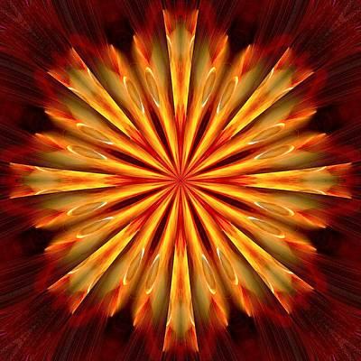 Kaleidoscope Of Fire Art Print by Mark Lopez