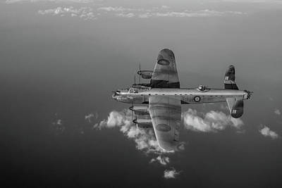 Photograph - Kangaroo Nose Art Lancaster W5005 Bw Version by Gary Eason