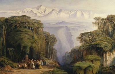 Painting - Kangchenjunga From Darjeeling by Edward Lear