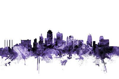 Digital Art - Kansas City Missouri Skyline by Michael Tompsett