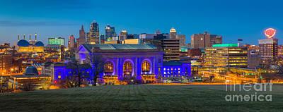 Union Station Photograph - Kansas City Panorama by Inge Johnsson