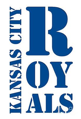 Stadium Drawing - Kansas City Royals Typography by Pablo Franchi