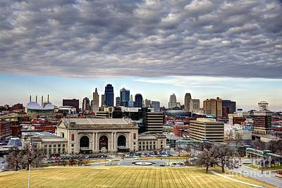 Photograph - Kansas City Skyline by Jean Hutchison