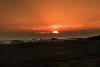 Photograph - Kansas Sunrise by Jay Stockhaus