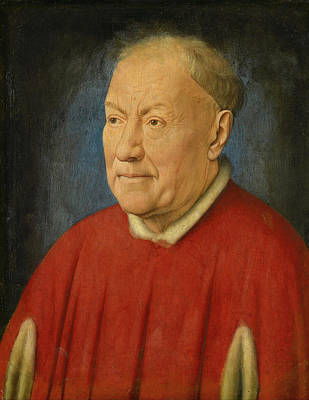 Elderly Painting - Kardinal Niccolo Albergati by Jan van Eyck