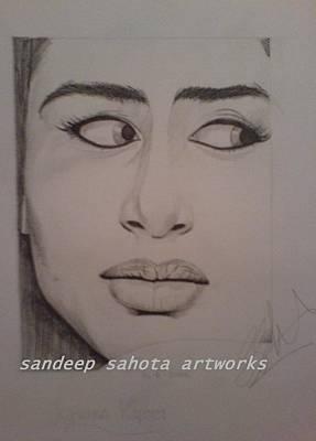 Robert Deniro Wall Art - Painting - Kareena Kapoor by San Art Studio