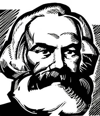 Theory Drawing - Karl Marx by Russian School