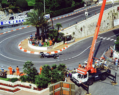Photograph - Karl Wendlinger Monaco Grand Prix by John Bowers