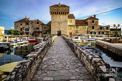 Photograph - Kastel Gomilica Fishing Castle In Kastela, Free City Of Braavos In Game Of Thrones, Split, Croatia by Global Light Photography - Nicole Leffer