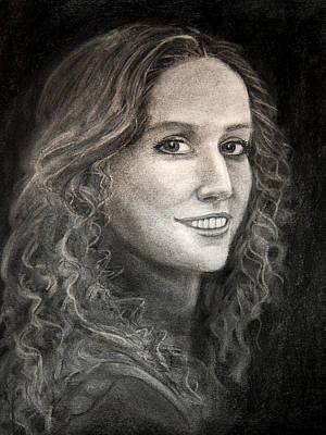 Drawing - Kat by Barbara J Blaisdell