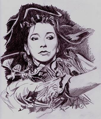 Drawing - Kate Bush by Toon De Zwart