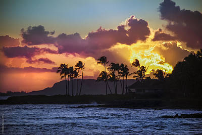 Photograph - Kauai Sunset by Debbie Karnes