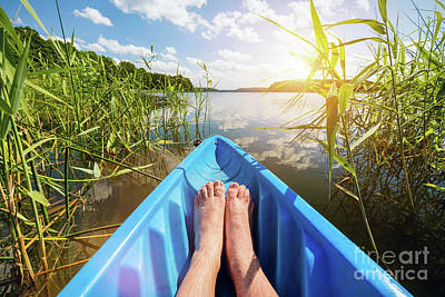 Photograph - Kayaking On The Lake. by Michal Bednarek