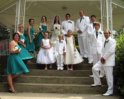 Photograph - Kayla Jeff Wedding Sample 8 by George Jones