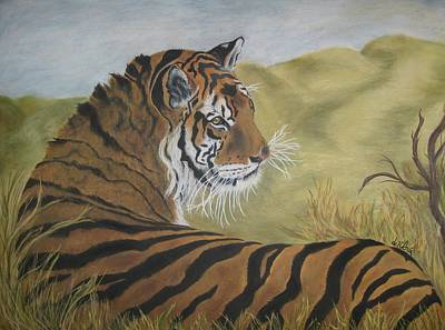 The Tiger Painting - Kaziranga Rani by Corinne Dell Aria