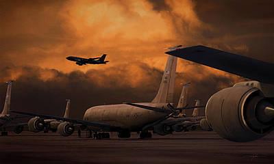 Storm Digital Art - Kc-135 Flightline by Dale Jackson