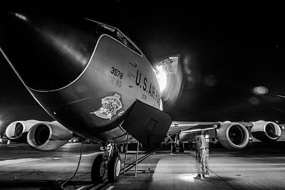 Photograph - Kc-135r - Unloading Passengers by U S A F