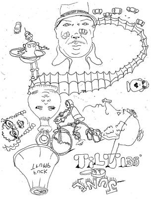 Drawing - Kcuf Pmurt by William Tilton