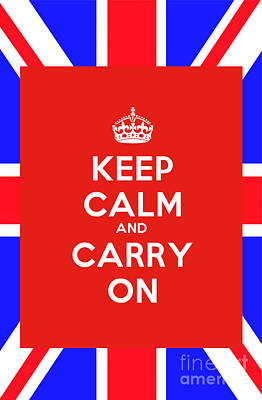 Keep Calm Painting - Keep Calm And Carry On Poster by Celestial Images
