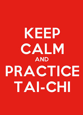 Miles Davis - Keep Calm And Practice Tai Chi Motivational Poster by Celestial Images