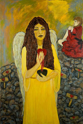 Painting - Keeper Of Broken Hearts by Treza Bettencourt