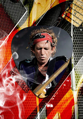 Guitar Mixed Media - Keith Richards Art by Marvin Blaine