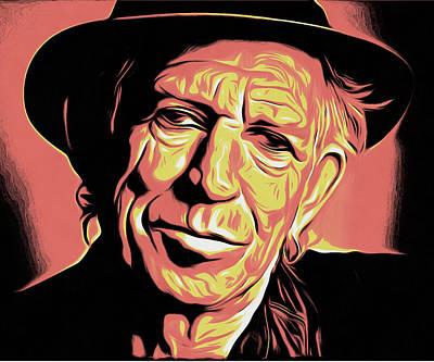 Rollingstone Digital Art - Keith Richards by Galeria Zullian  Trompiz