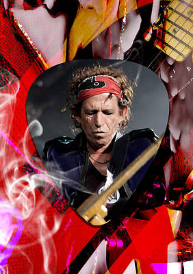 Keith Mixed Media - Keith Richards The Rolling Stones Art by Marvin Blaine