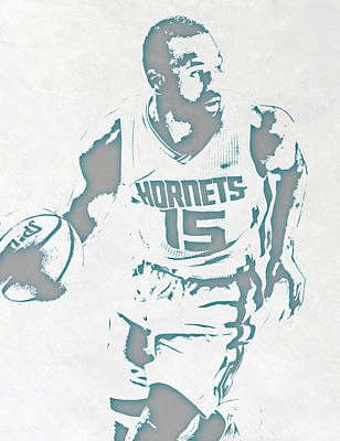 Free Mixed Media - Kemba Walker Charlotte Hornets Pixel Art 3 by Joe Hamilton
