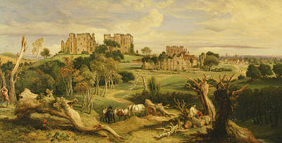 Kenilworth Castle Wall Art - Painting - Kenilworth Castle, Warwickshire by James Ward