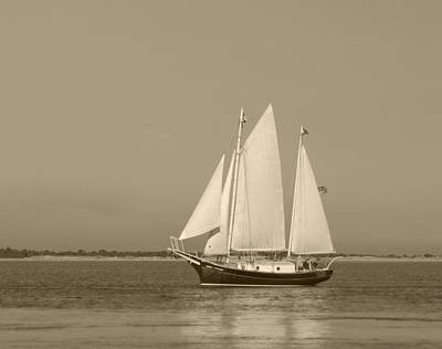 Krauzyk Photograph - Ketch - Nantucket Harbor by Henry Krauzyk