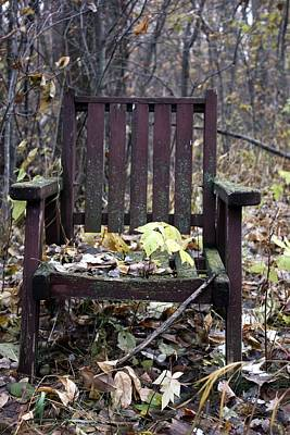 Art Print featuring the photograph Keven's Chair by Pat Purdy