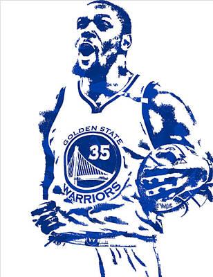 Kevin Durant Golden State Warriors Pixel Art 4 Art Print