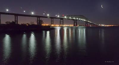 Key Bridge At Night Art Print by Brian Wallace