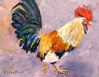 Painting - Key West Chicken by Lisa Boyd