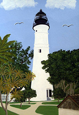 Painting - Key West Lighthouse by Frederic Kohli