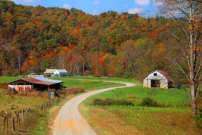 Photograph - Kibler Valley Farm by Kathryn Meyer