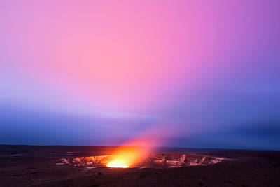 Photograph - Kilauea Volcano At Night by Joe Belanger