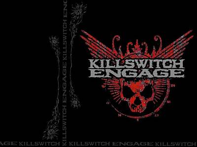 Floral Digital Art - Killswitch Engage by Super Lovely