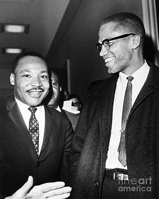 King And Malcolm X, 1964 Art Print by Granger
