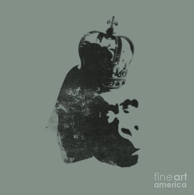 Banksy Digital Art - King Ape by Pixel Chimp