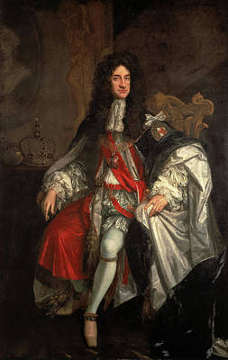 English Painting - King Charles II by Godfrey Kneller