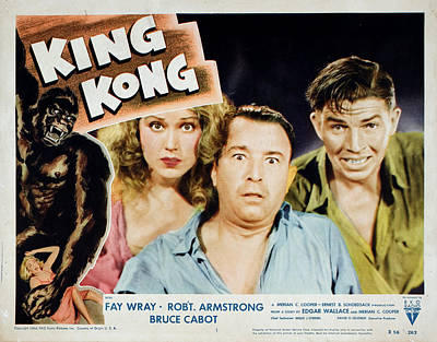 King Kong, Fay Wray, Robert Armstrong Art Print by Everett