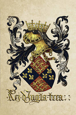 Photograph - King Of England Coat Of Arms - Livro Do Armeiro-mor by Serge Averbukh